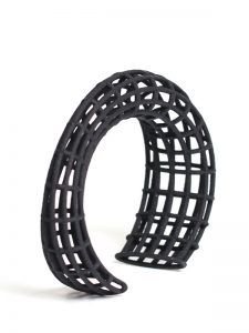 black parametric cuff bracelet, architecture design by XbyAB